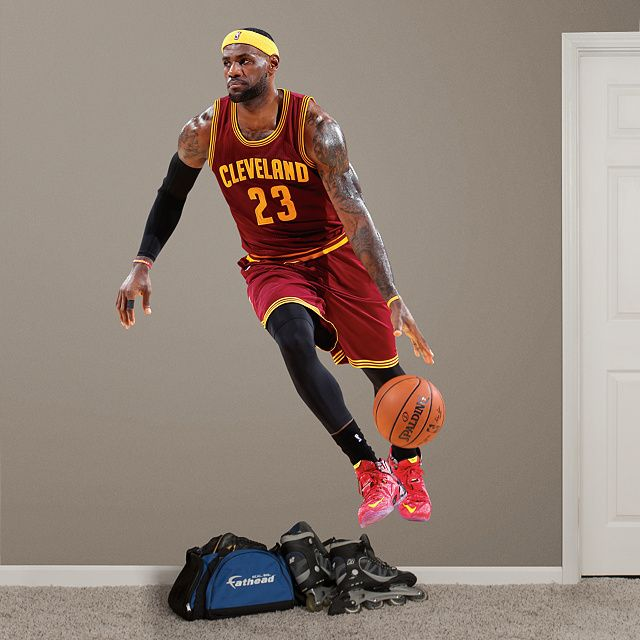 LeBron James - No. 23 REAL.BIG. Fathead – Peel & Stick Wall Graphic | Sports Home Decor