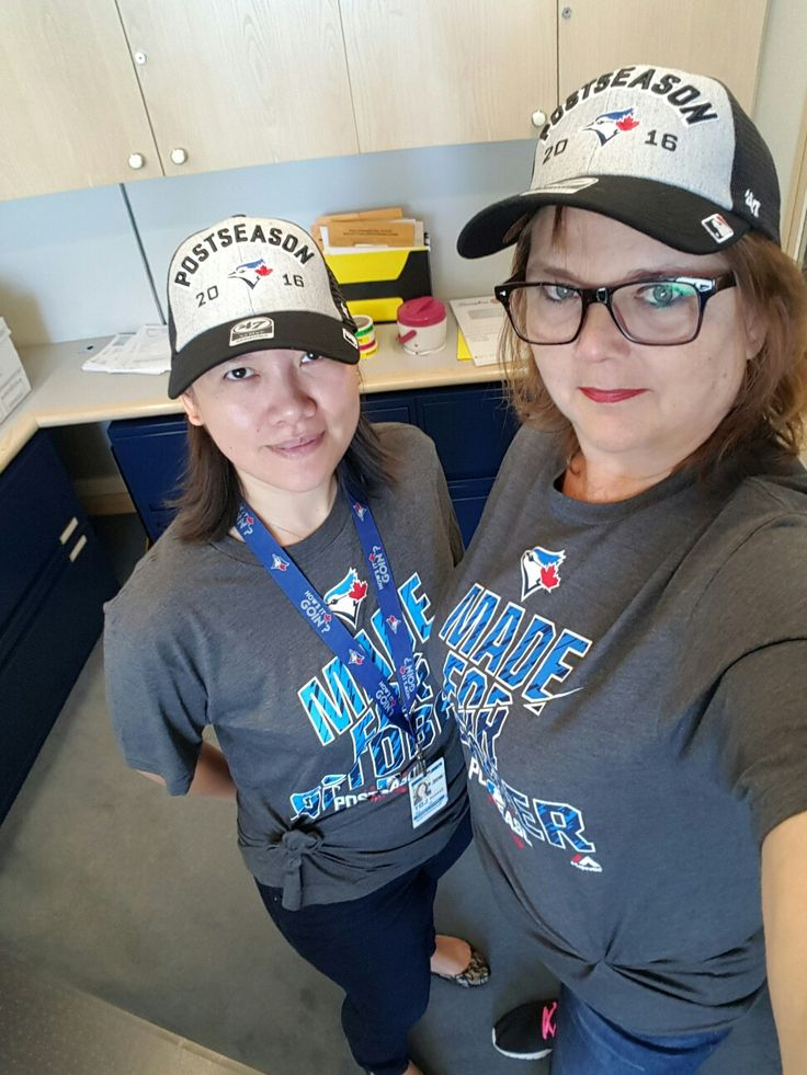 All ready for the game tonight Go Jays Go