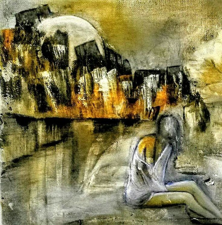 acrylic on canvas 45x40cm  by Nara kirakosyan