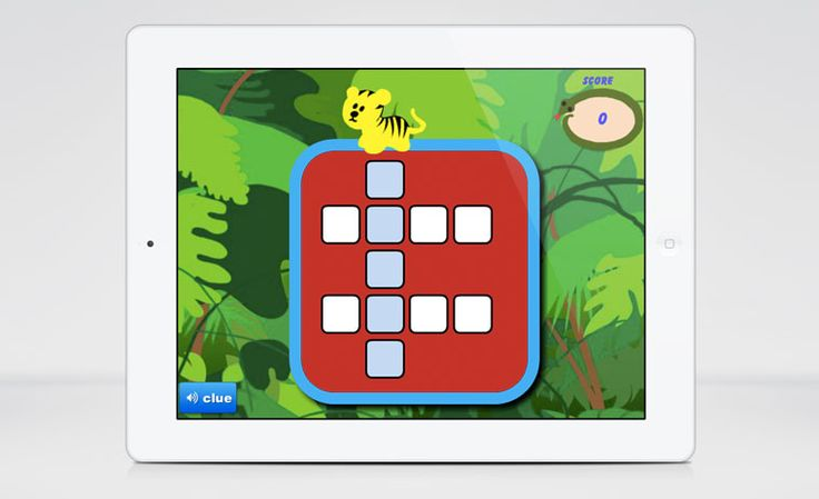 Crossword Puzzle Game  Here's a fun and simple crossword puzzle designed for children. Shared by Nick Russell, this template is fully editable and features an option for audio hints.