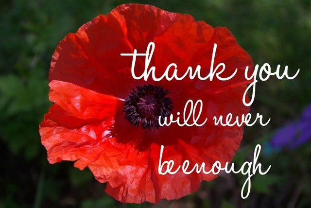 To our Anzacs: Thank you will never be enough