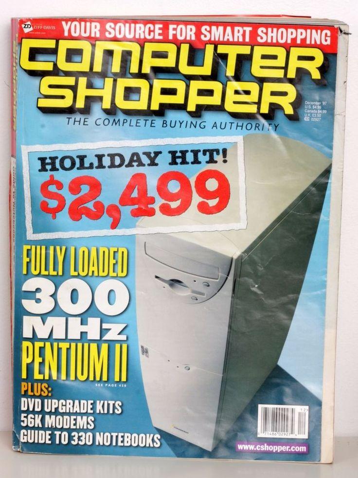 Computer shopper magazine december 1997 old computers