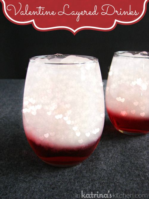 Valentine Layered Drinks for 2 are non-alcoholic and so easy!