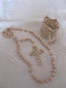 Hand Crocheted golden Rosary | eBay