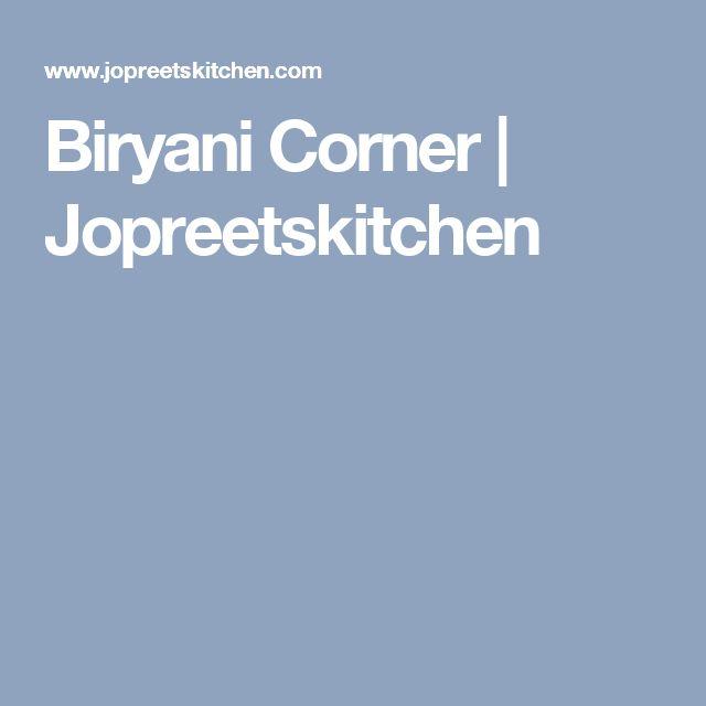 Biryani Corner | Jopreetskitchen