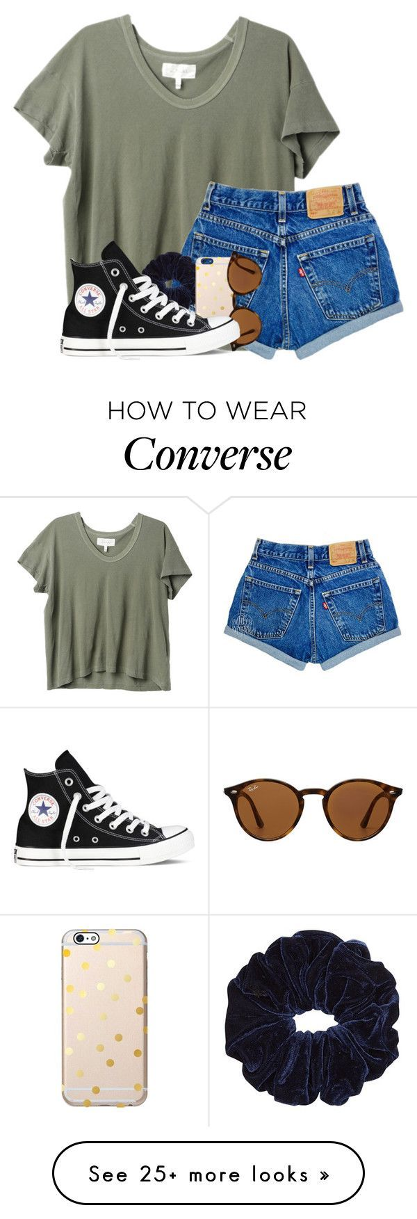 """HELP SHOULD I TAKE FRENCH OR SPANISH"" by madiweeksss on Polyvore featuring The Great, Ray-Ban and Converse"