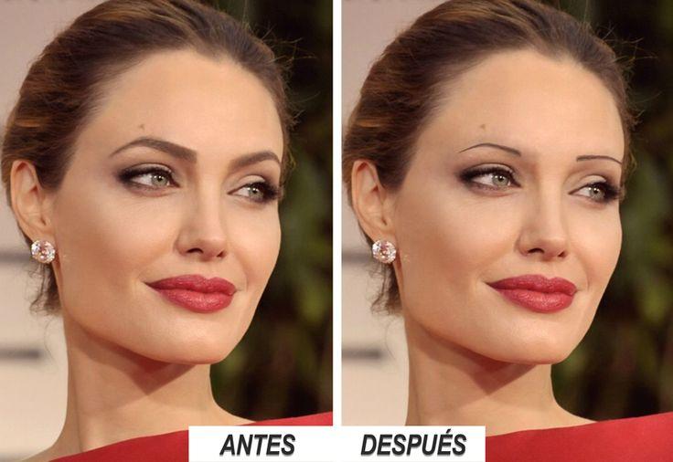 Angelina Jolie   ¿Cómo te gusta más? Cejas anchas o estrechas