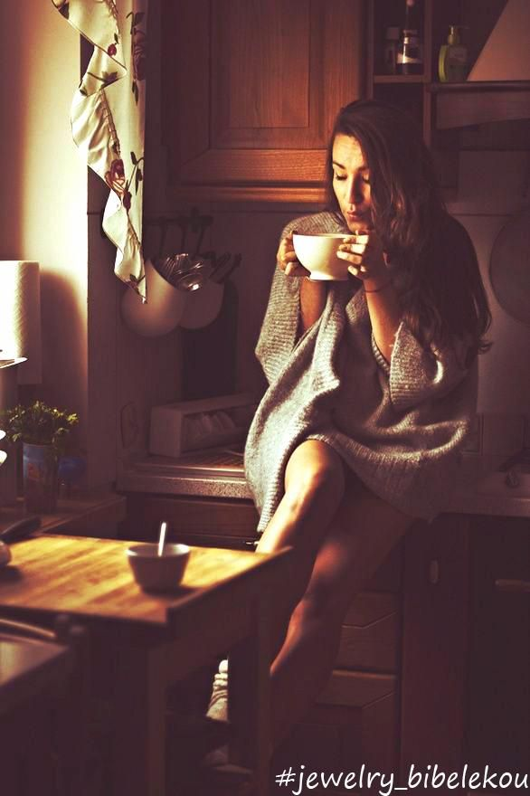 morning, coffee, girl, sunday