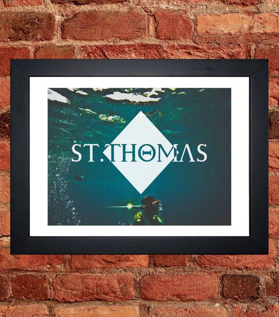 St Thomas Snorkeling Print - Digital download.