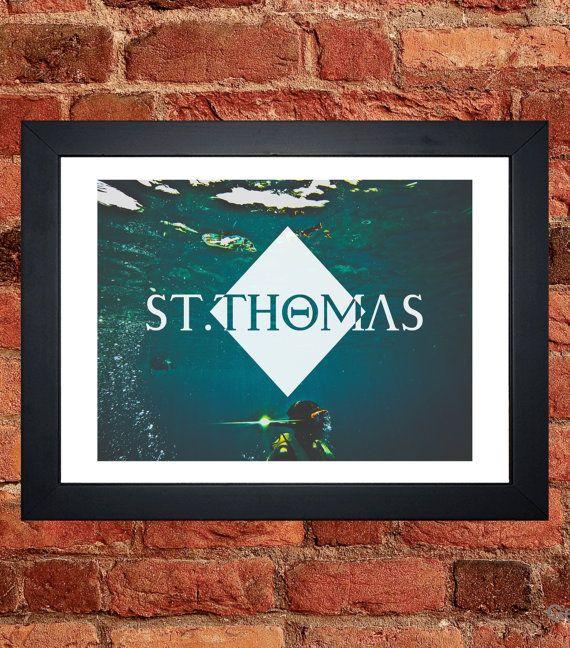 St Thomas Snorkeling Print - Digital download.
