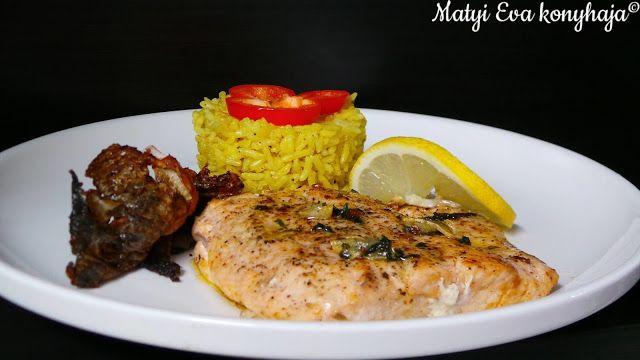 Matyi Eva: Sult lazac kurkumas rizs korettel.