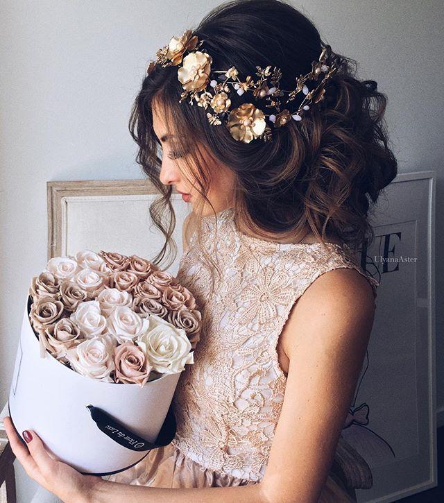 ASHLY | Pink Gold Flower Crown
