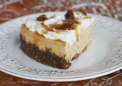Pumpkin Cheesecake with Pecan-Gingersnap Crust | Recipe | Thanksgiving ...