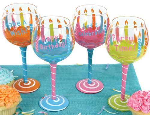 Birthday Wine Glasses
