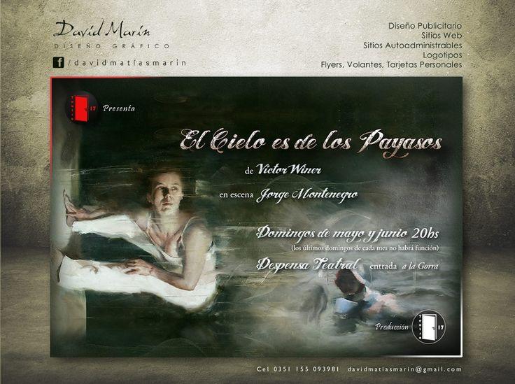 Flyer El cielo es de los payasos / Para Jorge Montenegro