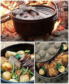 Dutch ovens dutch oven recipes and oven recipes on pinterest for Healthy dutch oven camping recipes