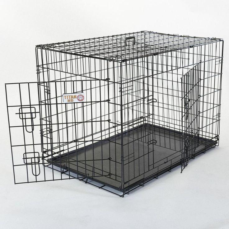 """24"""" Double Door Folding Dog Crate"""