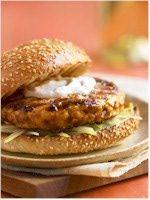 Made these last night -yum!! Asian Salmon Burger Recipe - Soy-Glazed Salmon Burger