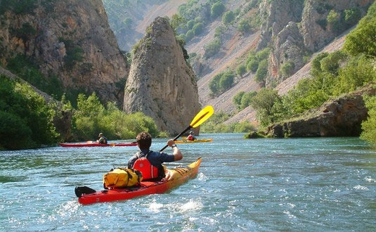 Kayaking / canoeing Zrmanja river Croatia, Zadar area