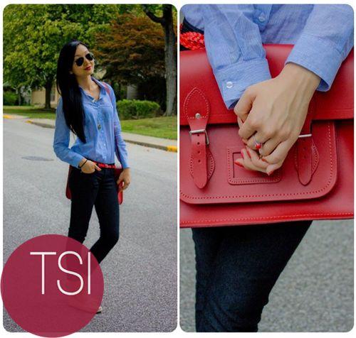 ACCESORIO INFALTABLE: si la sabes llevar puede ser un símbolo de empoderamiento femenino, es por eso que la cartera roja es un must
