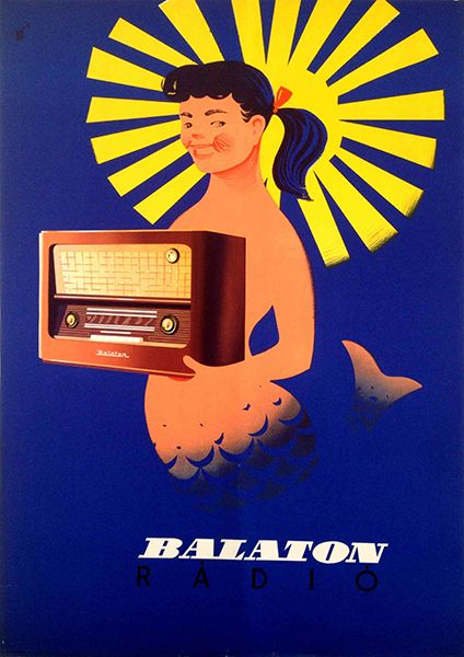 Balaton Radio (1958) #Balaton #vintage #tourism #marketing #poster #plakat #Hungary Collection by: http://www.pinterest.com/bookpublicist/