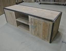 Afbeeldingsresultaat voor tv meubel steigerhout