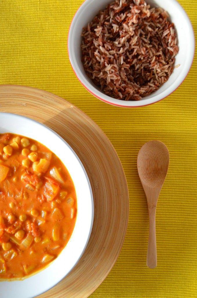 Vegetarisch recept: Indiase Kikkererwten Curry #vegetarisch #recept #Fair_Trade