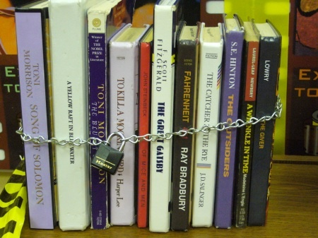 Banned Books from Hot Library Technician: Book Displays, Reading, Book Worth, Banned Books, English Teacher, Ban Book Display, Libraries Display, Display Ideas, Ban Book Weeks