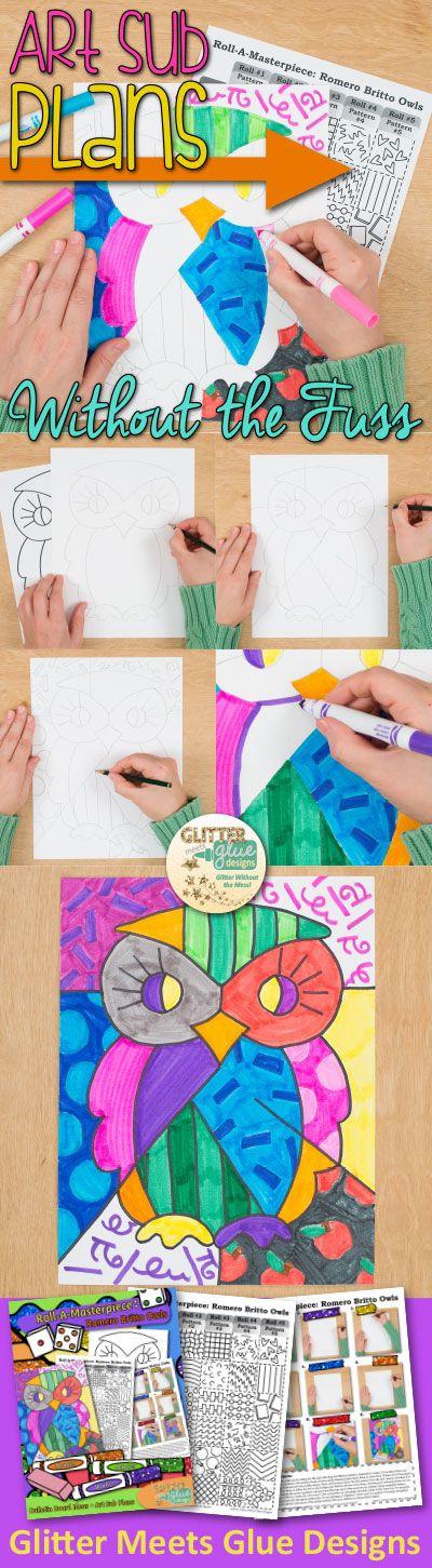romero britto, britto, britto art, art project, lesson plan, art sub plan, art lesson ideas. back to school