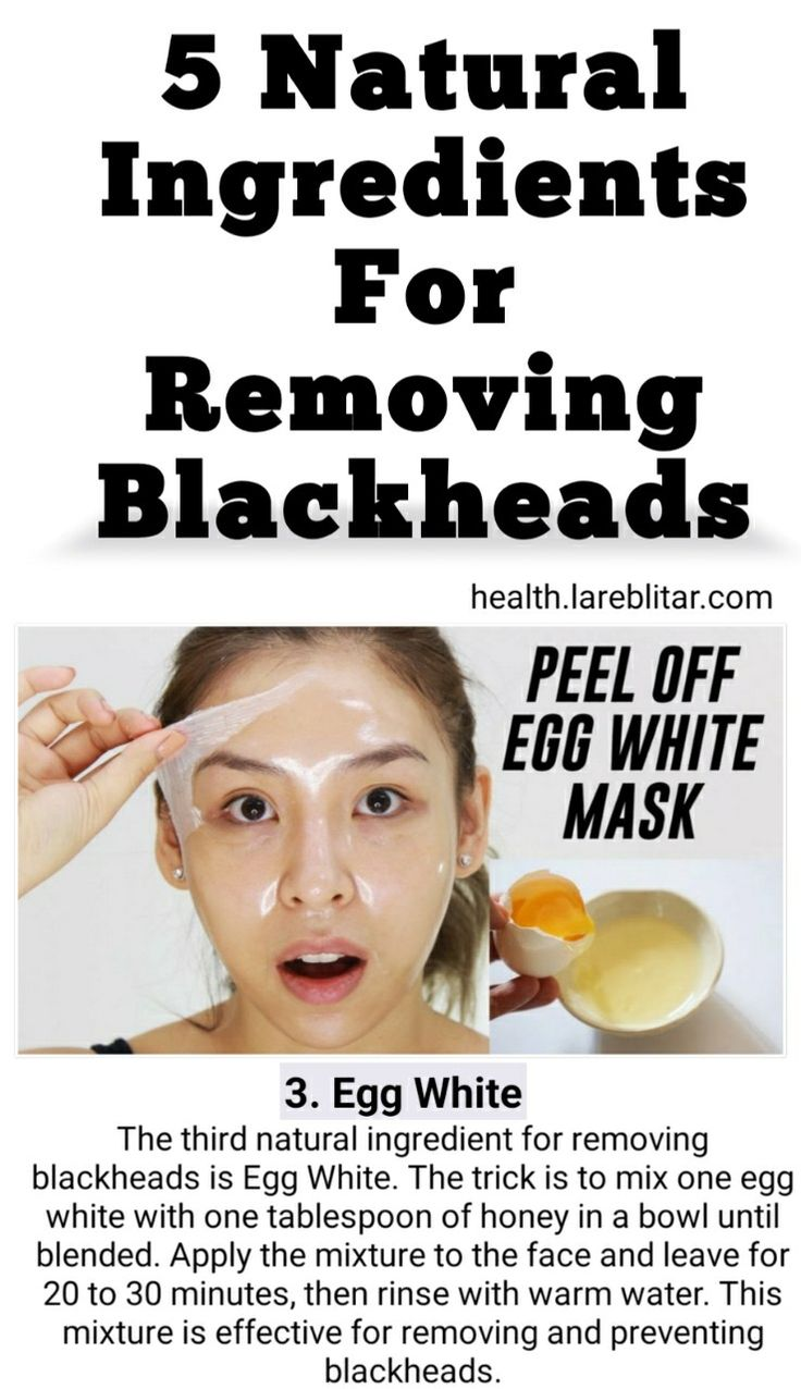 Egg white is natural ingredients for removing blackheads