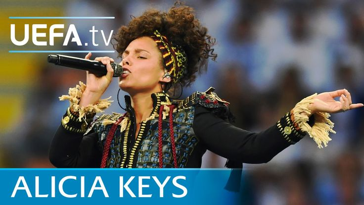 Alicia Keys at Champions League final opening ceremony