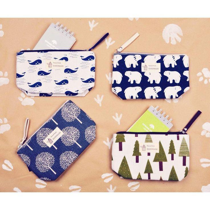 Wildlife Love 🌳  forest and animal printcanvas purse szputnyik whale plants nature paws wallet bags