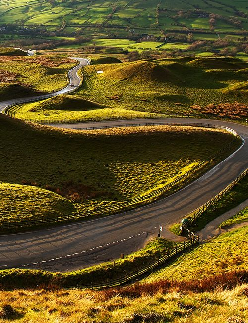 Curves, Edale, England photo via wndlst - repined by http://www.motorcyclehouse.com/