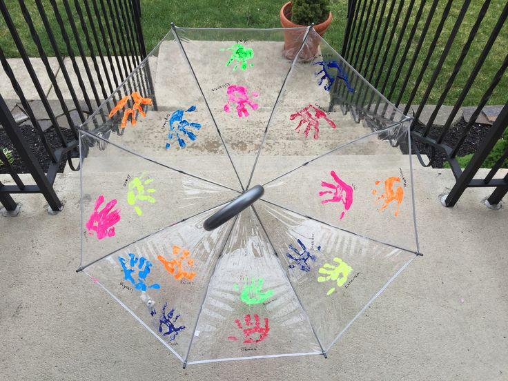 Handprint Umbrella  Teacher Appreciation Gift  Teacher Gift