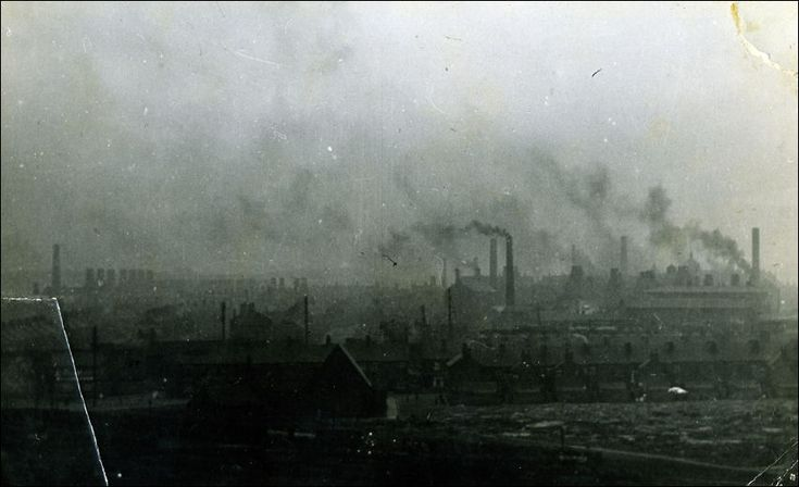 Smoking Chimneys And Pottery Kilns Of Tunstall In 1910