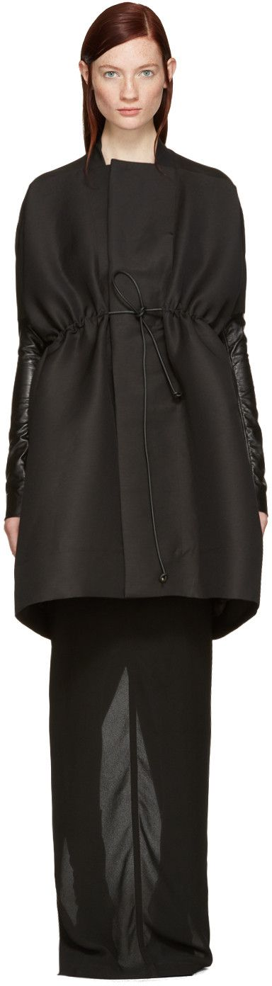 Rick Owens - Black Sail Coat