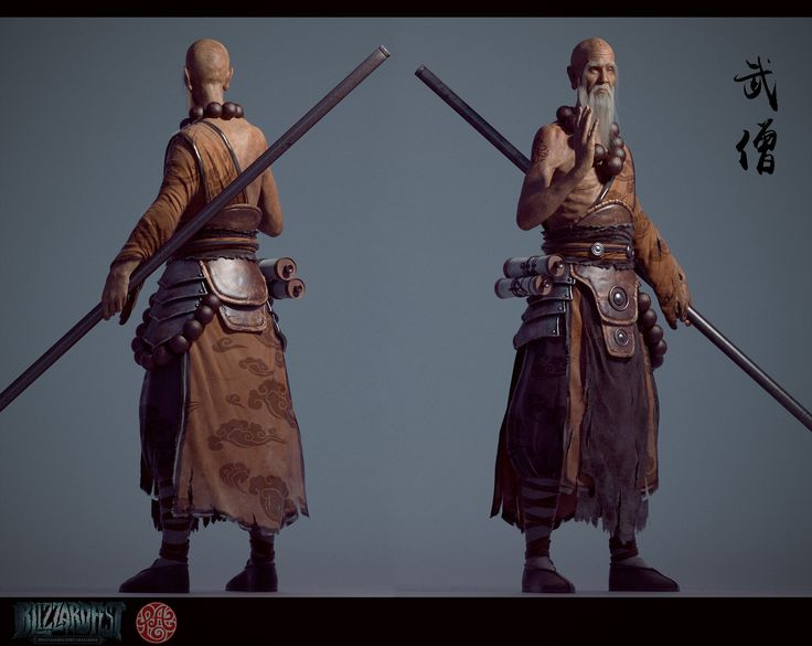 ArtStation - Old monk, wandong xu