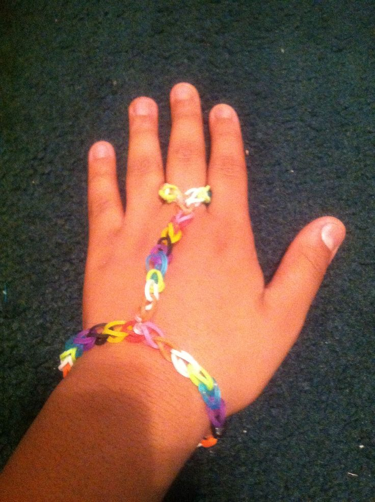 Rainbow Loom Bracelet Ring So Easy 3 C Clips Rainbow