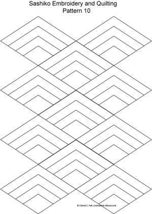Sashiko Pattern 12: Sashiko Pattern 10