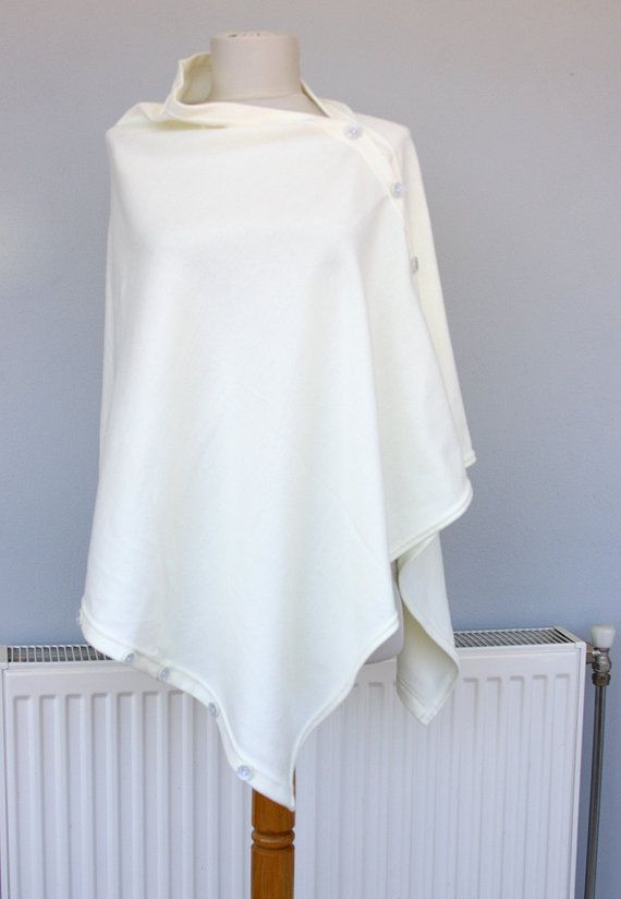Hey, I found this really awesome Etsy listing at https://www.etsy.com/listing/231724967/spring-poncho-convertible-poncho-white