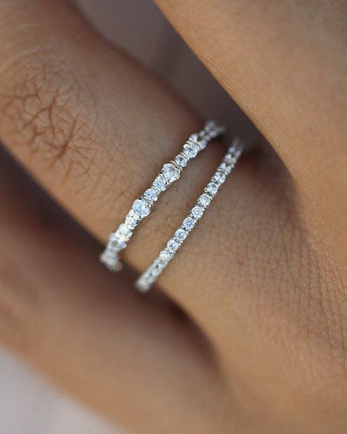 Sunday vibes Custom wedding bands and stackers for the unique bride. Shop the li…