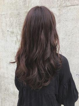 大人かわいいブロッサムショコラピンクデジタルパーマ 髪 カラー 髪