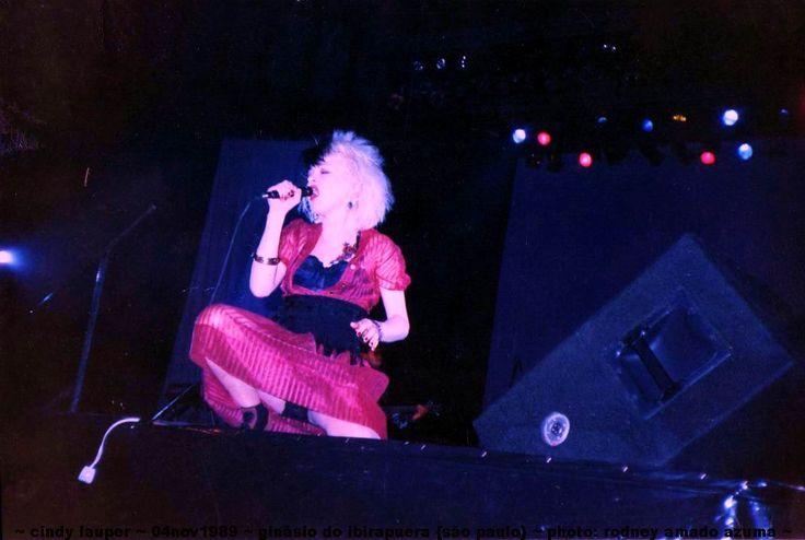 Cindy Lauper in São Paulo, Brazil 04 november 1989 Ginásio do Ibirapuera