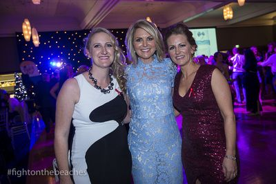 Fight on the Beaches Chairpersons, Meghann Parker and Michelle Heaton-Armstrong with MC, Georgie Gardner