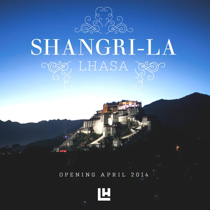 This is the new Shangri-La Hotel in Lhasa, Tibet. The unique Tibetan culture was the reference for the property's harmonious, contemporary interiors. Shangri-La Lhasa is a luxurious home for the beloved explorers of the world.  www.shangri-la.com/lhasa/shangrila/‎