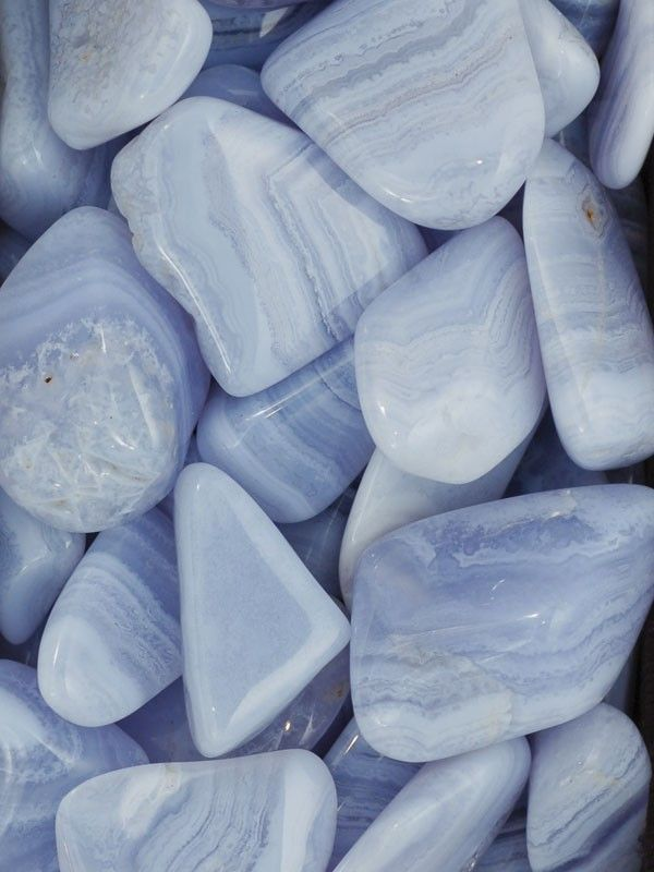 Blue Lace Agate ~ dissolves inner tensions