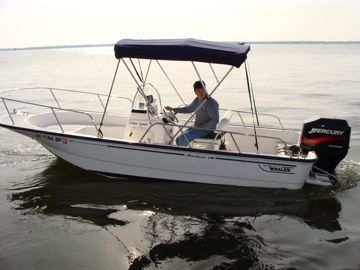 Boston Whaler 17' Montauk. This boat holds 6 people and it 17'/5.2m. #FreedomCHS #MountPleasant