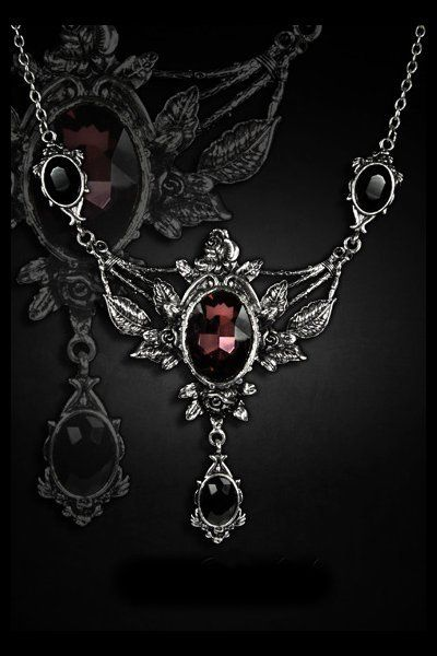 Wild Roses Evening Necklace by Restyle | Gothic Jewellery