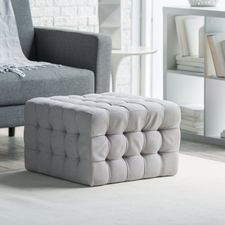 Belham Living Allover Tufted Square Ottoman - Grey - Get hip to the square with the Belham Living Allover Tufted Square Ottoman - Grey . The notion of square used to signify what was uncool, but from the...
