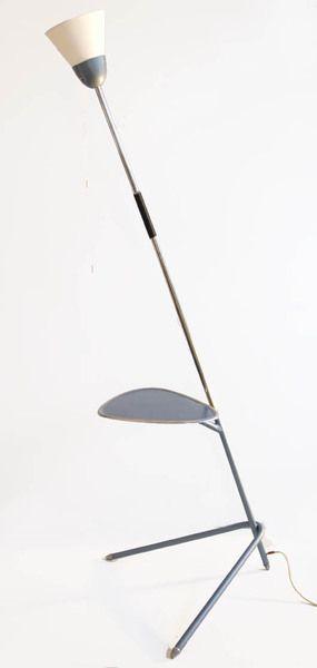 Unikalna lampa podłogowa ze stolikiem, lata 70. w New Old Design na DaWanda.com